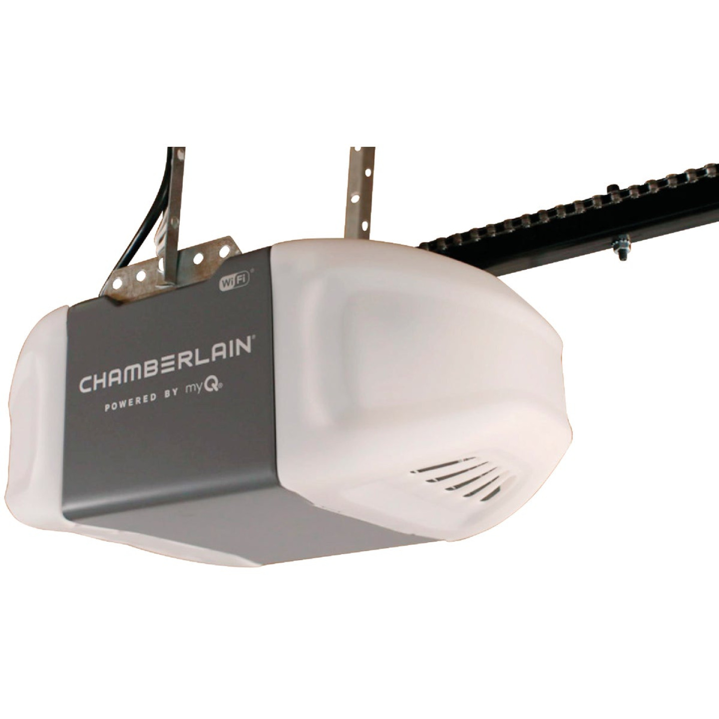 Chamberlain 1/2 HP Smartphone-Controlled Durable Chain Drive Garage Door Opener with WiFi and MED Lifting Power Image 1