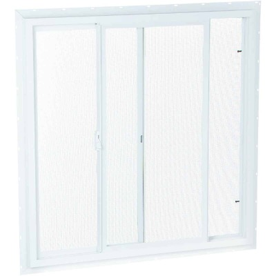 Northview 23-1/2 In. W. x 23-1/2 In. H. White PVC Single Glazed Utility Sliding Window