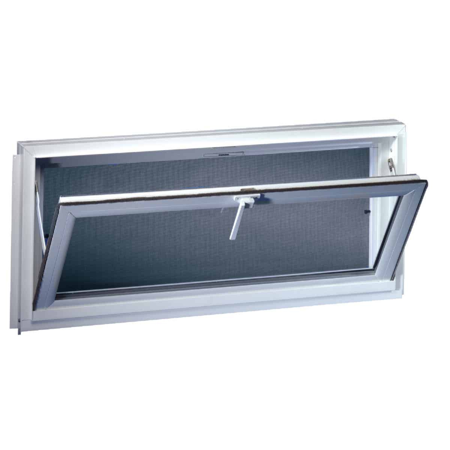 Northview Hemlock Hopper 32 In. W x 19-1/4 In. H White PVC Basement Window Image 1