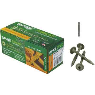 Spax PowerLags 5/16 In. x 3-1/2 In. Washer Head Exterior Structure Screw (50 Ct.)