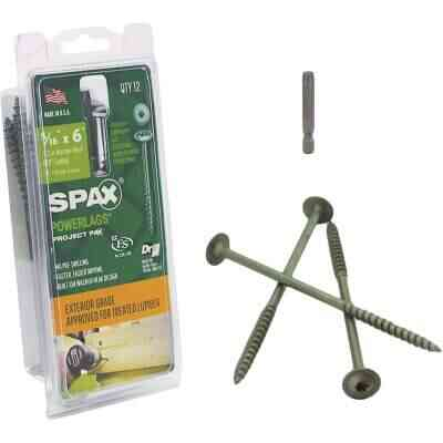 Spax PowerLags 5/16 In. x 6 In. Washer Head Exterior Structure Screw (12 Ct.)