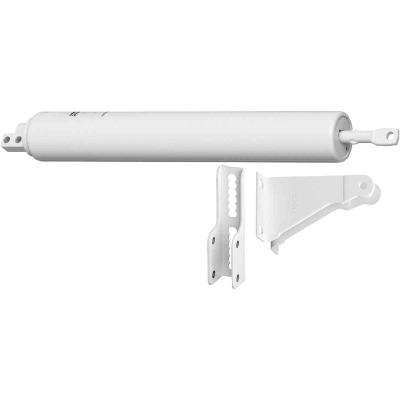 National White Medium Duty Pneumatic Screen Door Closer