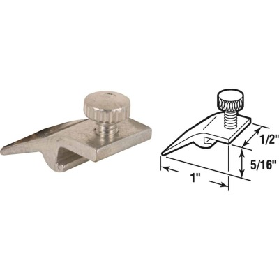 Prime-Line 1/2 In. W. x 5/16 In. H. x 1 In. L. Storm Window Panel Clip (8 Count)
