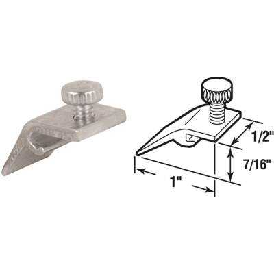 Prime-Line 1/2 In. W. x 7/16 In. H. x 15/16 In. L. Storm Door Panel Clip (8 Count)