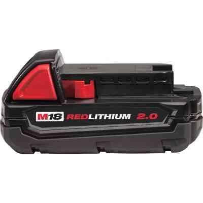 Milwaukee M18 REDLITHIUM 18 Volt Lithium-Ion 2.0 Ah Compact Tool Battery