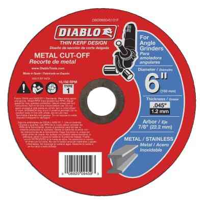 Diablo Type 1 6 In. x 0.045 In. x 7/8 In. Metal Cut-Off Wheel