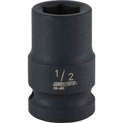 Channellock 1/2 In. Drive 1/2 In. 6-Point Shallow Standard Impact Socket
