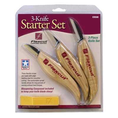 Flex Cut 3-Piece Starter Carving Knife Set