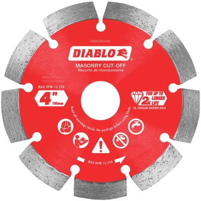 Diablo 4 In. Segmented Rim Dry/Wet Cut Diamond Blade