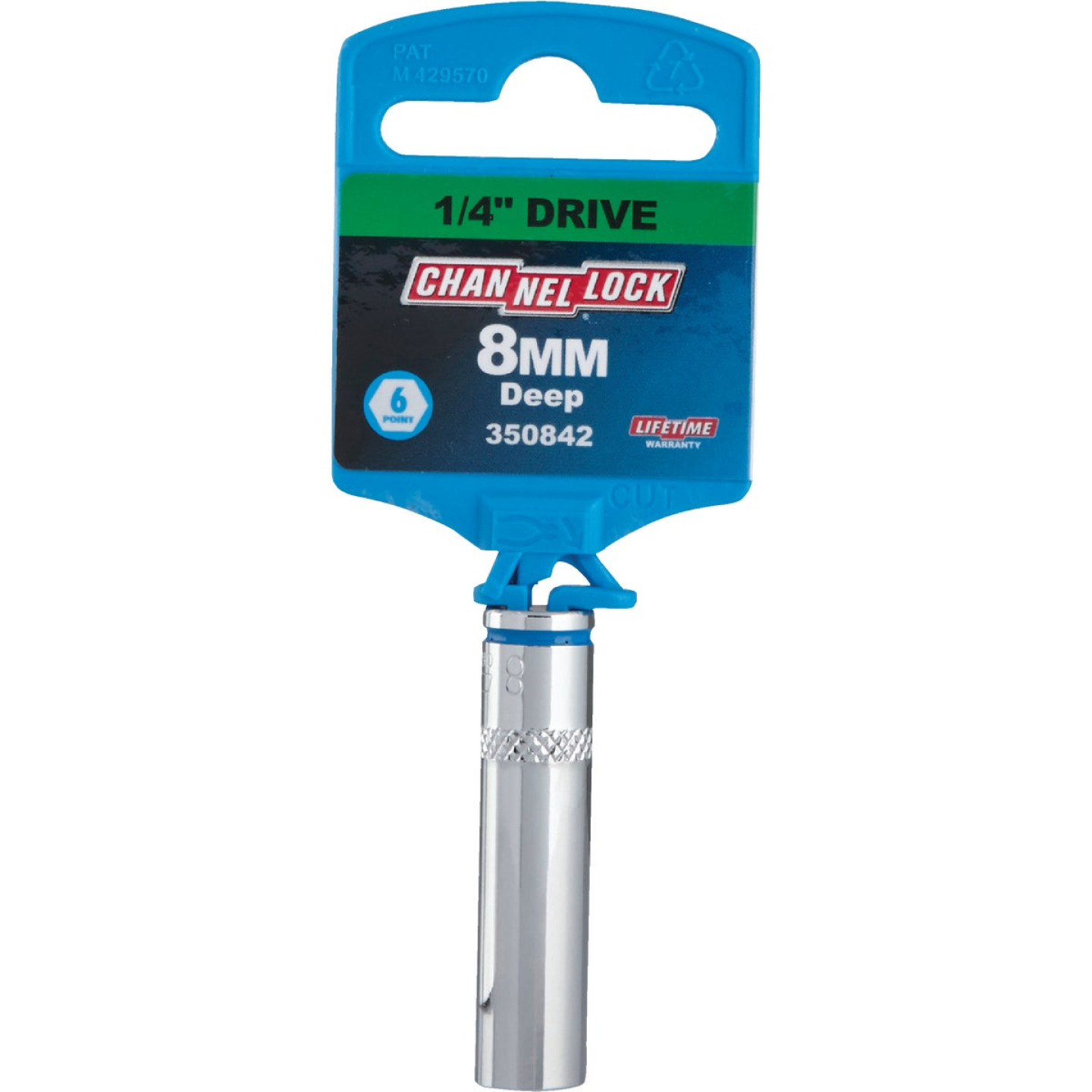 Channellock 1/4 In. Drive 8 mm 6-Point Deep Metric Socket Image 2
