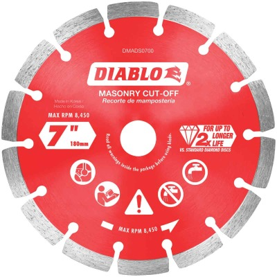 Diablo 7 In. Segmented Rim Dry/Wet Cut Diamond Blade