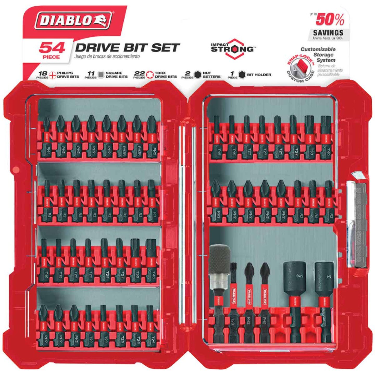 Diablo 54-Piece Impact Screwdriver Bit Set Image 1
