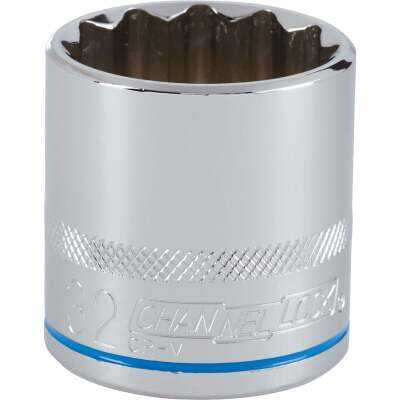 Channellock 1/2 In. Drive 32 mm 12-Point Shallow Metric Socket
