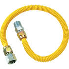 Dormont 1/2 In. OD x 18 In. Coated Stainless Steel Gas Connector, 1/2 In. FIP x 1/2 In. MIP (Tapped 3/8 In. FIP) Image 1