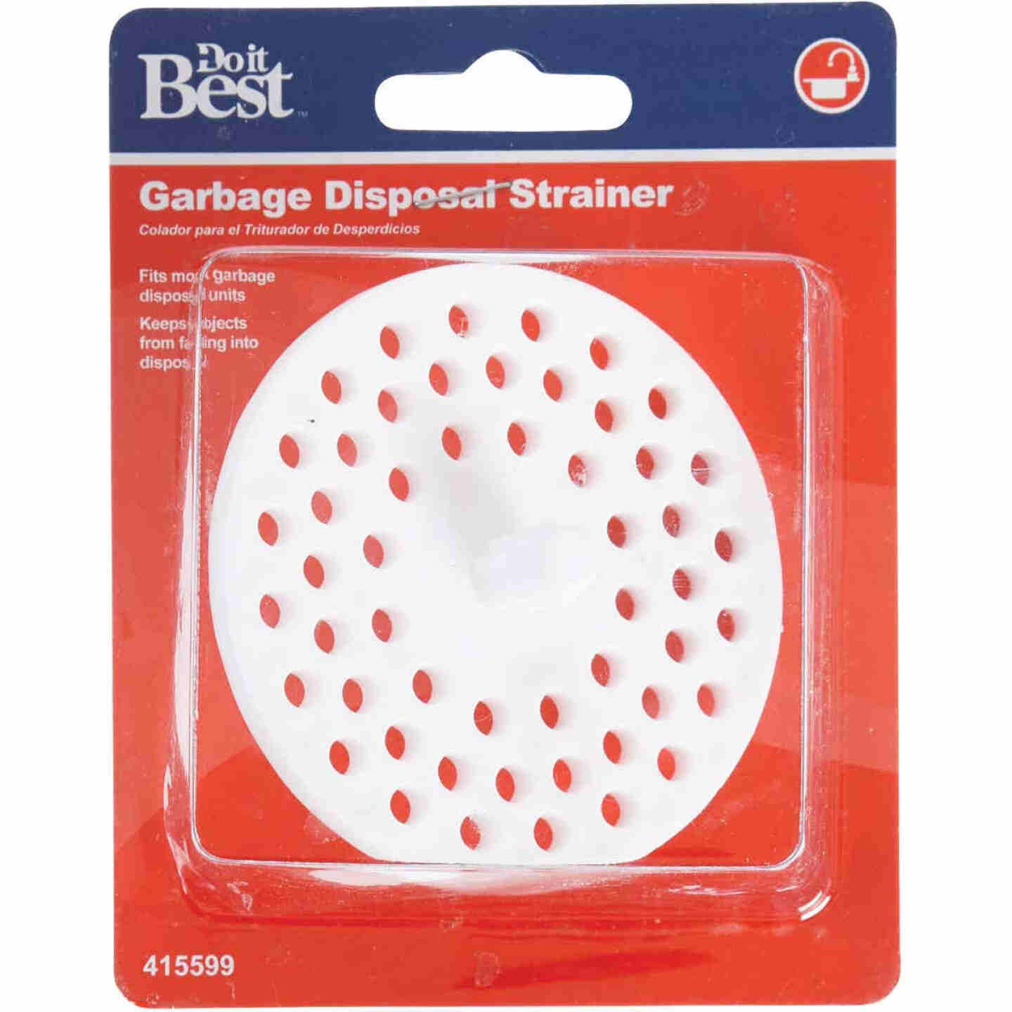 Do it 3-1/8 In. Dia White Plastic Garbage Disposer Strainer Image 2