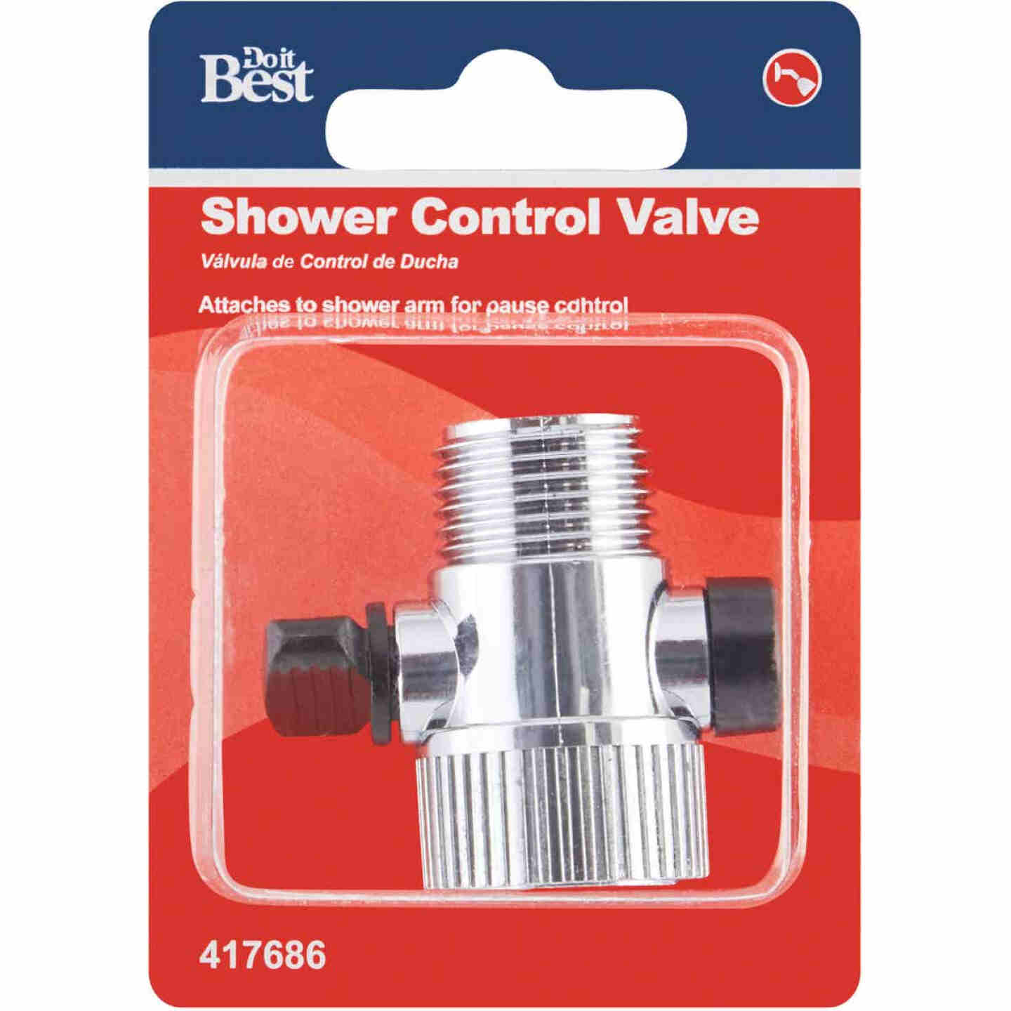 Do it 1/2 In. Chrome Shower Head Flow Control Image 2