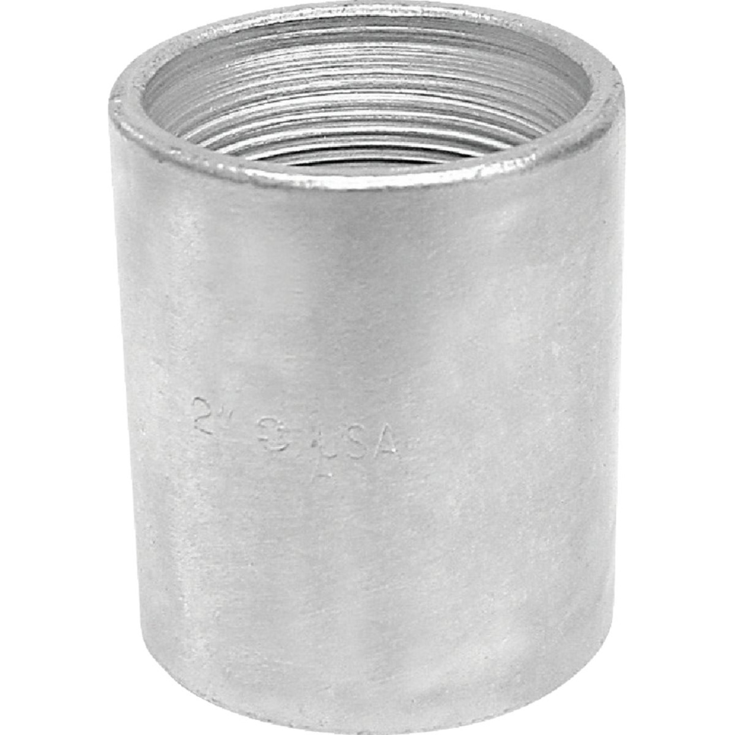 Anvil 3/8 In. x 3/8 In. FPT Standard Merchant Galvanized Coupling Image 1