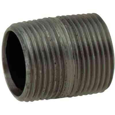 Anvil 1-1/4 In. x Close Schedule 40 Steel Black Iron Nipple