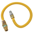 Dormont 1/2 In. OD x 36 In. Coated Stainless Steel Gas Connector, 1/2 In. MIP (Tapped 3/8 In. FIP) x 1/2 In. MIP SmartSense Image 1