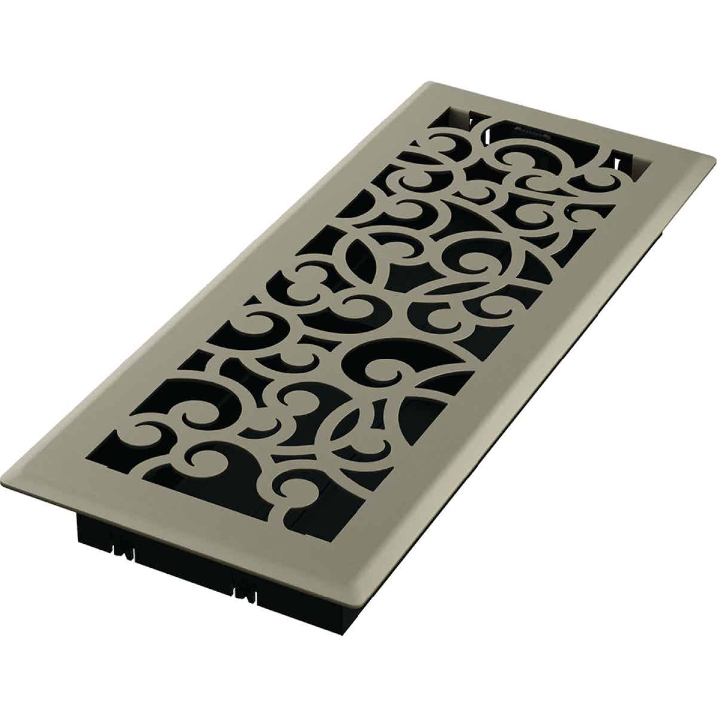 Imperial Wonderland 4 In. x 12 In. Satin Nickel Steel Floor Register Image 1