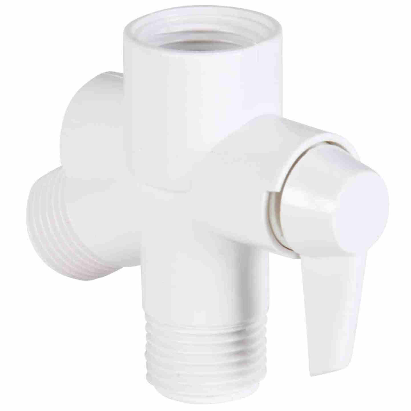Do it  1/2 In. MPT White Plastic Shower Diverter Image 1