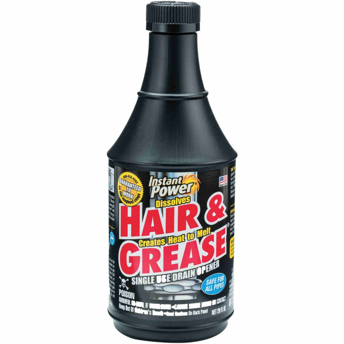 Instant Power Hair & Grease 20 Oz. Liquid Single Use Drain Opener Image 1