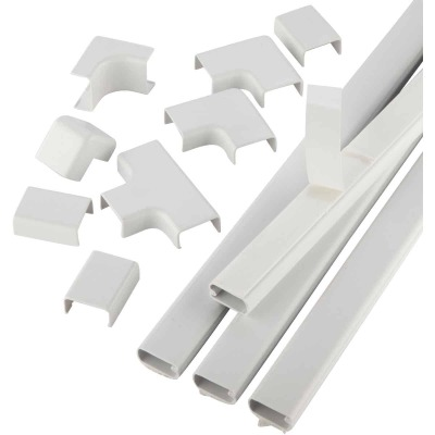 Wiremold CordMate 1 In. x 30 In. White Channel