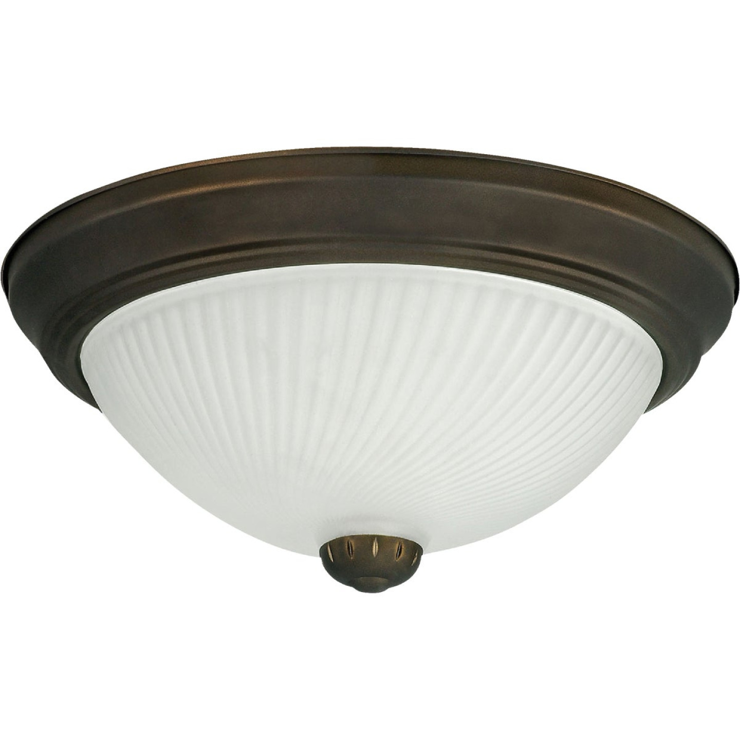 Home Impressions 11 In. Oil Rubbed Bronze Incandescent Flush Mount Ceiling Light Fixture (2-Pack) Image 2