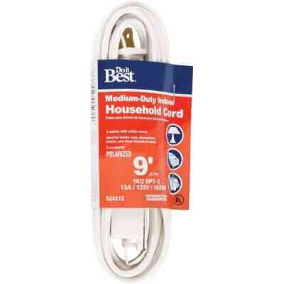 Do it Best 9 Ft. 16/2 White Cube Tap Extension Cord