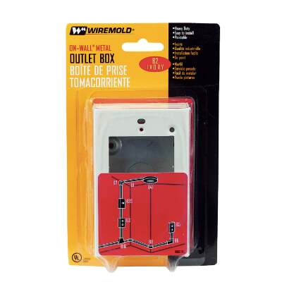 Wiremold Ivory Metal 1 In. Outlet Box