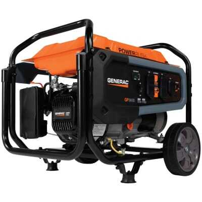 Generac 3600W Gasoline Powered Recoil Pull Start Portable Generator