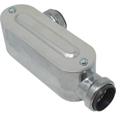 Southwire SimPush 1/2 In. EMT Push-To-Install Type-LL Conduit Body