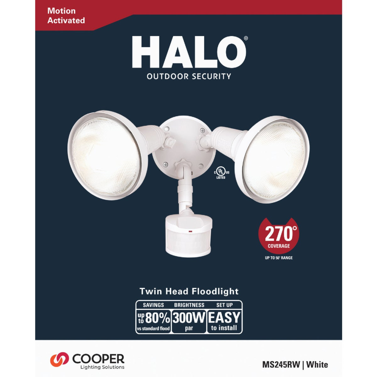 All-Pro White Motion Sensing Dusk To Dawn Incandescent Floodlight Fixture Image 2