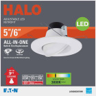Halo 5 In./6 In. Retrofit Gimbal 3000K LED Recessed Light Kit, 614 Lm. Image 2