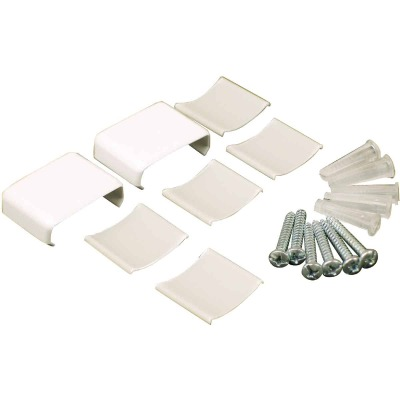 Wiremold White Wire Protector Accessory Kit