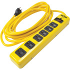 Yellow Jacket 6-Outlet 1440J Hi-Vis Yellow Surge Protector Strip with 15 Ft. Cord Image 1