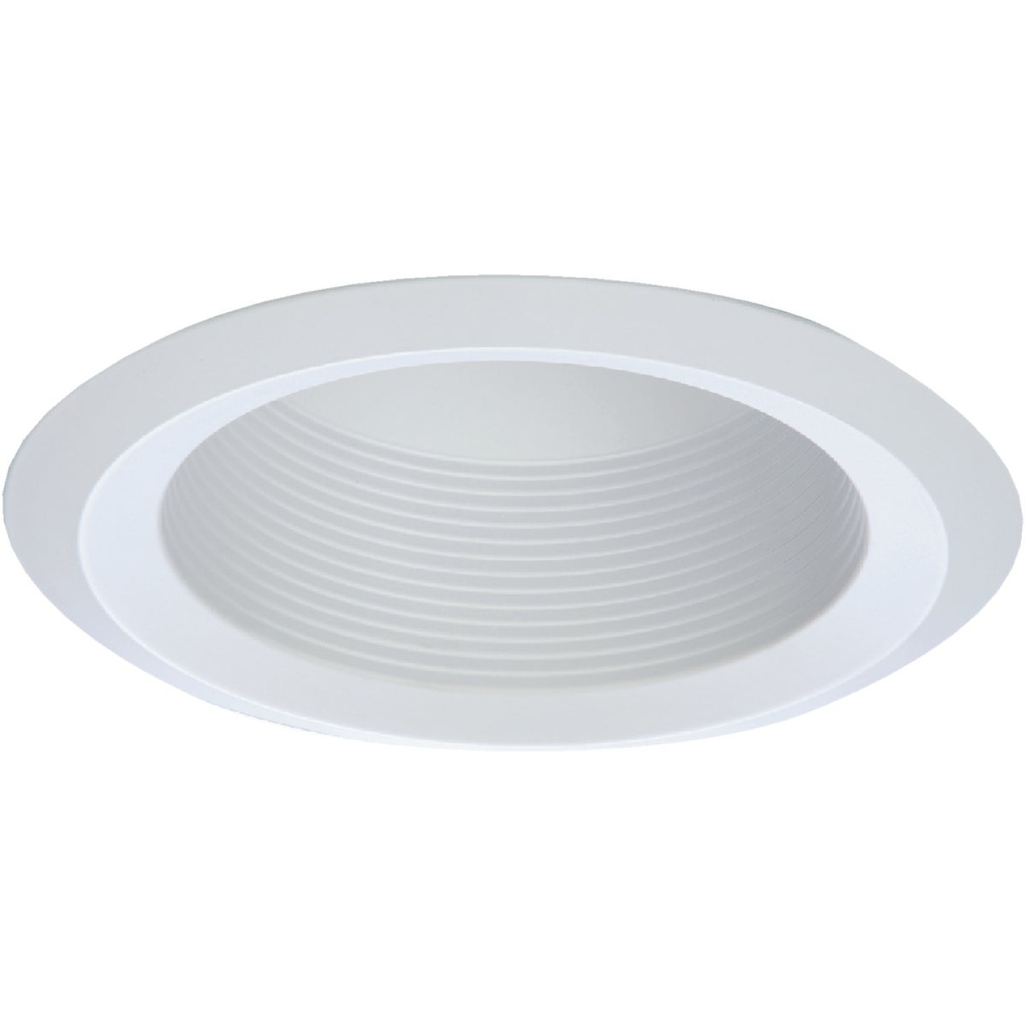Halo 6 In. White Cone Baffle with Self-Flange Recessed Light Fixture Trim Image 1