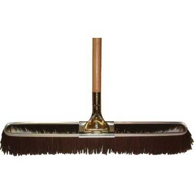 Bruske 23 In. W. x 65 In. L. Wood Handle Coarse Sweep Push Broom