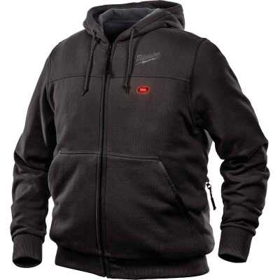 Milwaukee M12 XL Black Men's Heated Full Zip Hooded Sweatshirt