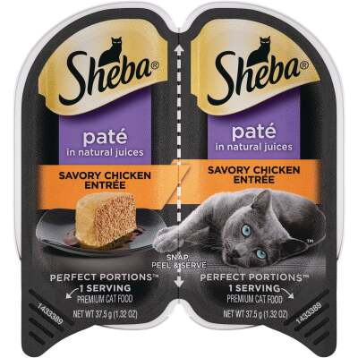 Sheba Perfect Portions Pate 2.6 Oz. Adult Savory Chicken Wet Cat Food