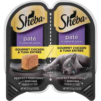 Sheba Perfect Portions Pate 2.6 Oz. Adult Gourmet Chicken & Tuna Wet Cat Food