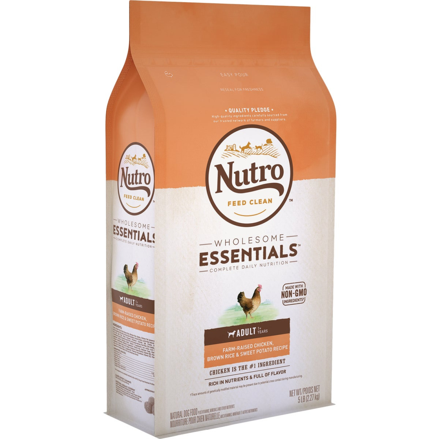 Nutro Wholesome Essentials 5 Lb. Chicken, Brown Rice, & Sweet Potato Adult Dry Dog Food Image 1