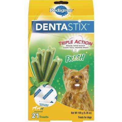 Pedigree Dentastix Toy Dog Fresh Dental Dog Treat (21-Pack)
