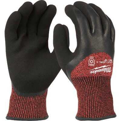 Milwaukee Unisex Medium Latex Coated Cut Level 3 Insulated Work Glove