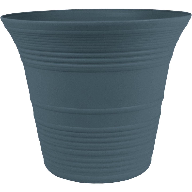 Myers Sedona 9 In. Dia. Polypropylene Slate Blue Planter Image 1