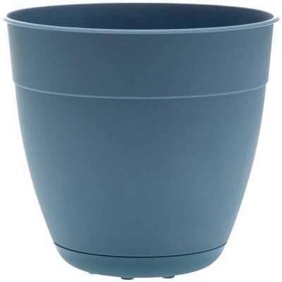 Bloem Ocean Series Dayton 14.5 In. H. x 16 In. Dia. Recycled Ocean Plastic Ocean Blue Planter