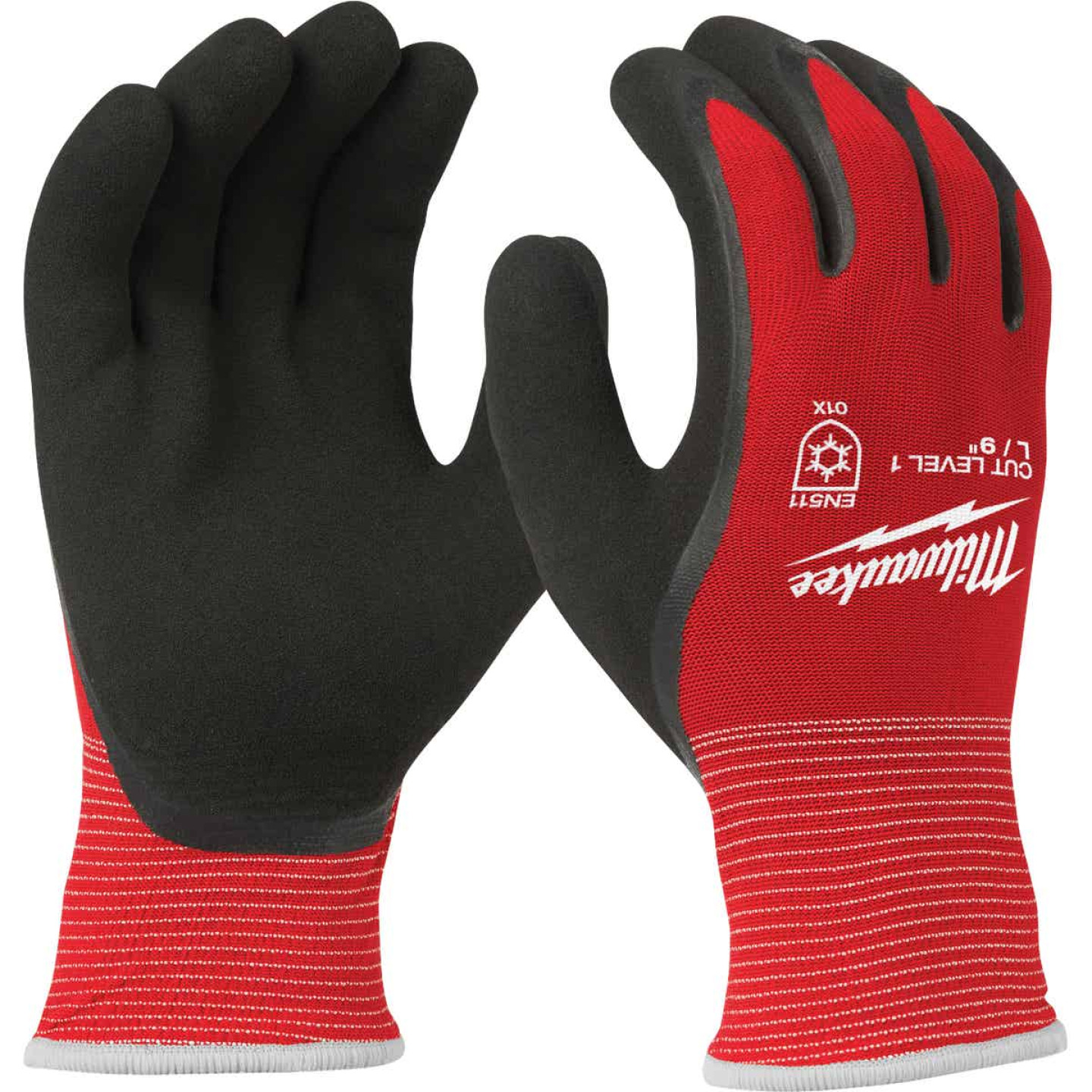 Milwaukee Men's L Latex Coated Cut Level 1 Insulated Work Glove Image 1