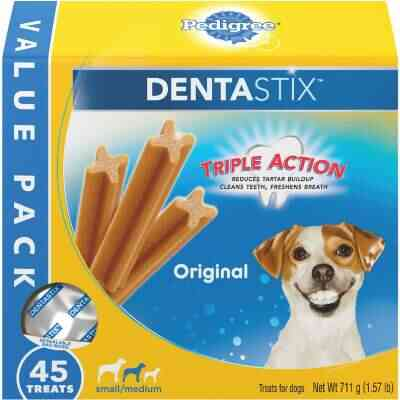 Pedigree Dentastix Small/Medium Dog Original Flavor Dental Dog Treat (45-Pack)