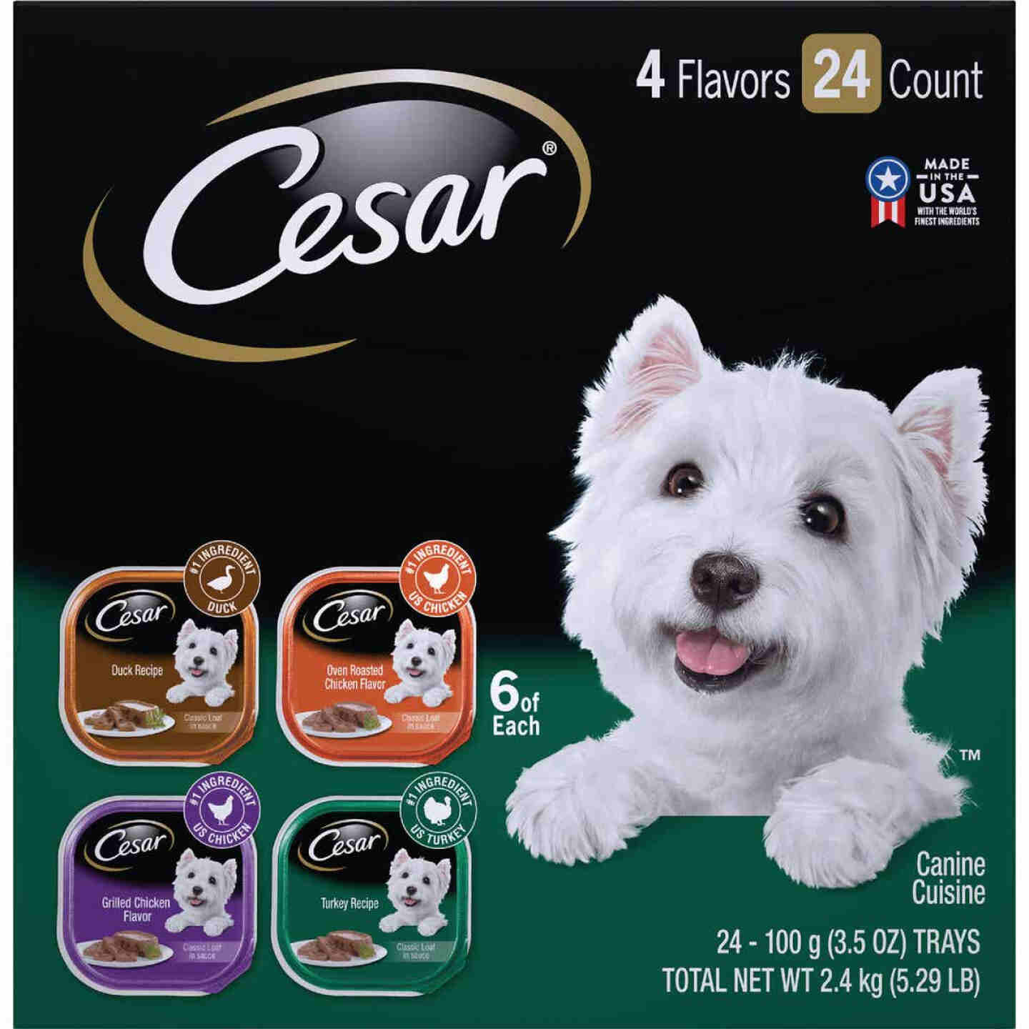 Cesar Classic Loaf Duck/Oven Roasted Chicken/Grilled Chicken/Turkey Variety Adult Wet Dog Food (24-Pack) Image 1