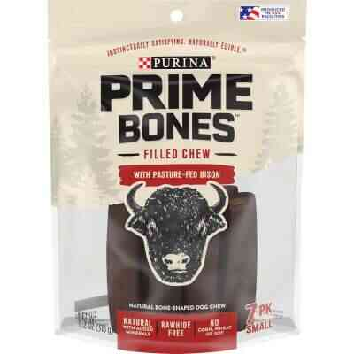 Purina Prime Bones Small Bison Flavor Filled Chew Dog Treat (7-Pack)